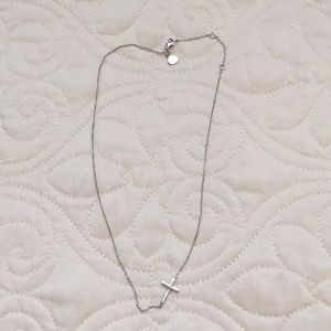 Stella & Dot Interlock Cross Necklace